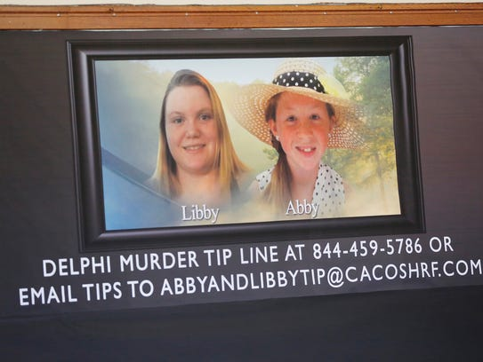 Posters of slain Delphi teens Liberty German and Abigail