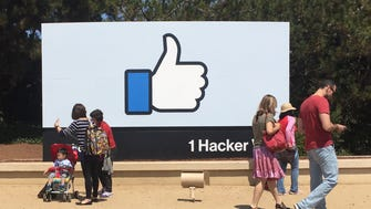 Facebook's headquarters at at 1 Hacker Way.