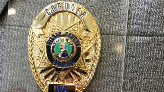 Kitsap County Coroner Greg Sandstrom's badge