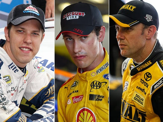 Brad Keselowski (left) is far up the Chase standings;