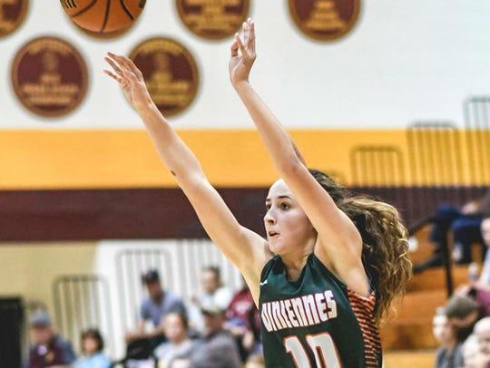 Vincennes Lincoln girls basketball player Abi Haynes