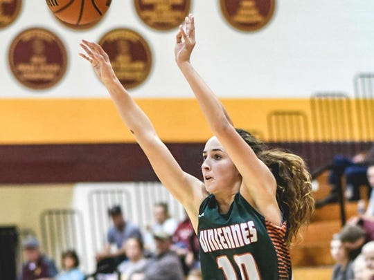 Vincennes Lincoln girls basketball player Abi Haynes