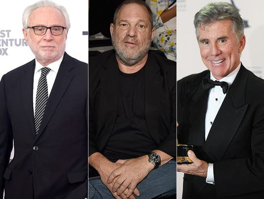 L to R: Wolf Blitzer, Harvey Weinstein and John Walsh.