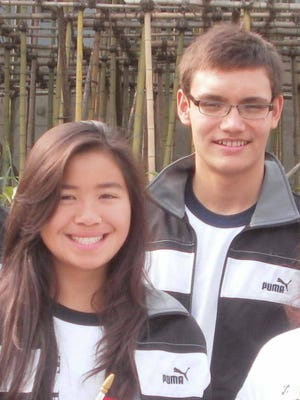 Swimmers Pilar Shimizu, left, and Benjamin Schulte will represent Guam at the 2016 Olympic Games in Rio De Janiero, Brazil.