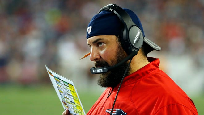 New England Patriots defensive coordinator Matt Patricia.