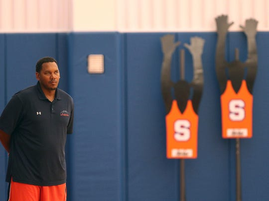 Former Pittsford Sutherland and Syracuse University basketball star Ryan Blackwell is coaching Boeheim's Army team in The Basketball Tournament, a $2 million, winner-take-all event featuring many former college basketball players.