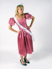 Rachel Rogers with a last minute prom queen costume