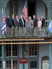 The Mitchell family, owners of Seville Quarter, pose