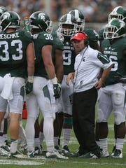 Michigan State co-defensive coordinator Mike Tressel