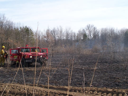 Prescribed burns such as this one at Petersburg State