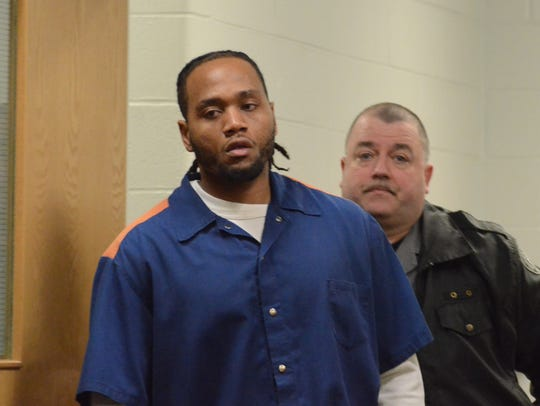 Jeffrey Wimberly enters the courtroom to be sentenced