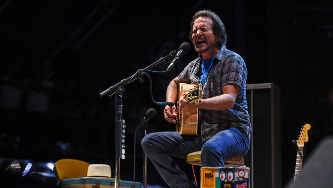Eddie Vedder performs at the 2017 Pilgrimage Music and Cultural Festival in Franklin, Tenn., Sunday, Sept. 24, 2017.