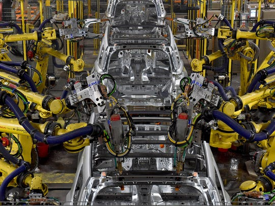 The body shop at Chicago Assembly Plant is all-new, home to 600 new robots and the latest manufacturing technologies.