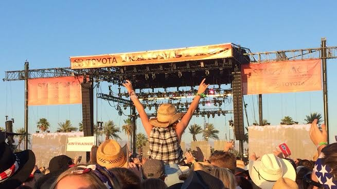 Lee Brice was a popular performer at Stagecoach on Sunday.