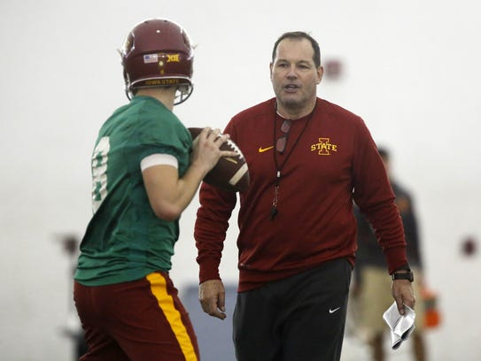 Jim Hofher took on a new job title this offseason: senior offensive analyst/assistant to the head coach.