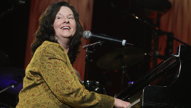 Singer Linda Gail Lewis performs at the 'Les Legendes Du Rock and Roll' concert at the Zenith