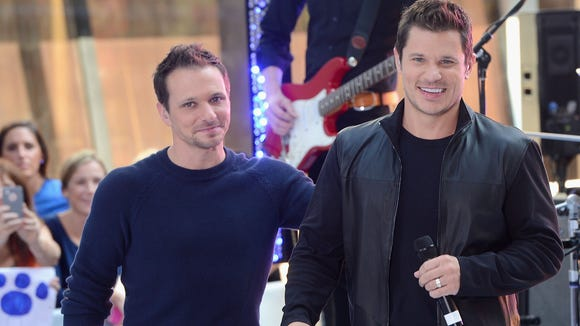 Drew  and Nick Lachey are shooting an A&E reality series