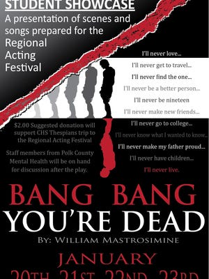 """Bang Bang You're Dead"" is a one-act play about school violence that will be performed by Central High School in Independence Jan. 20-23, 2016."