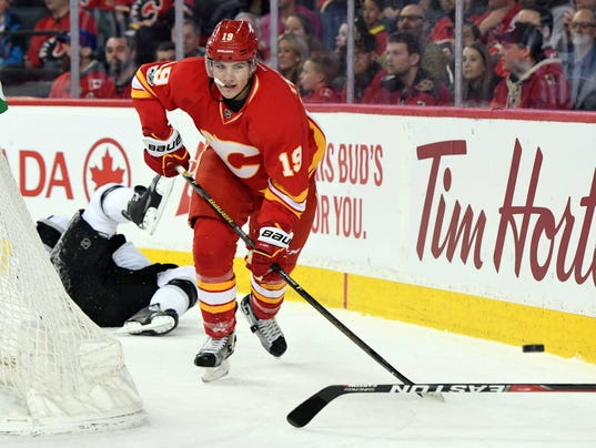 USP NHL: LOS ANGELES KINGS AT CALGARY FLAMES S HKN CGY LAK CAN AL