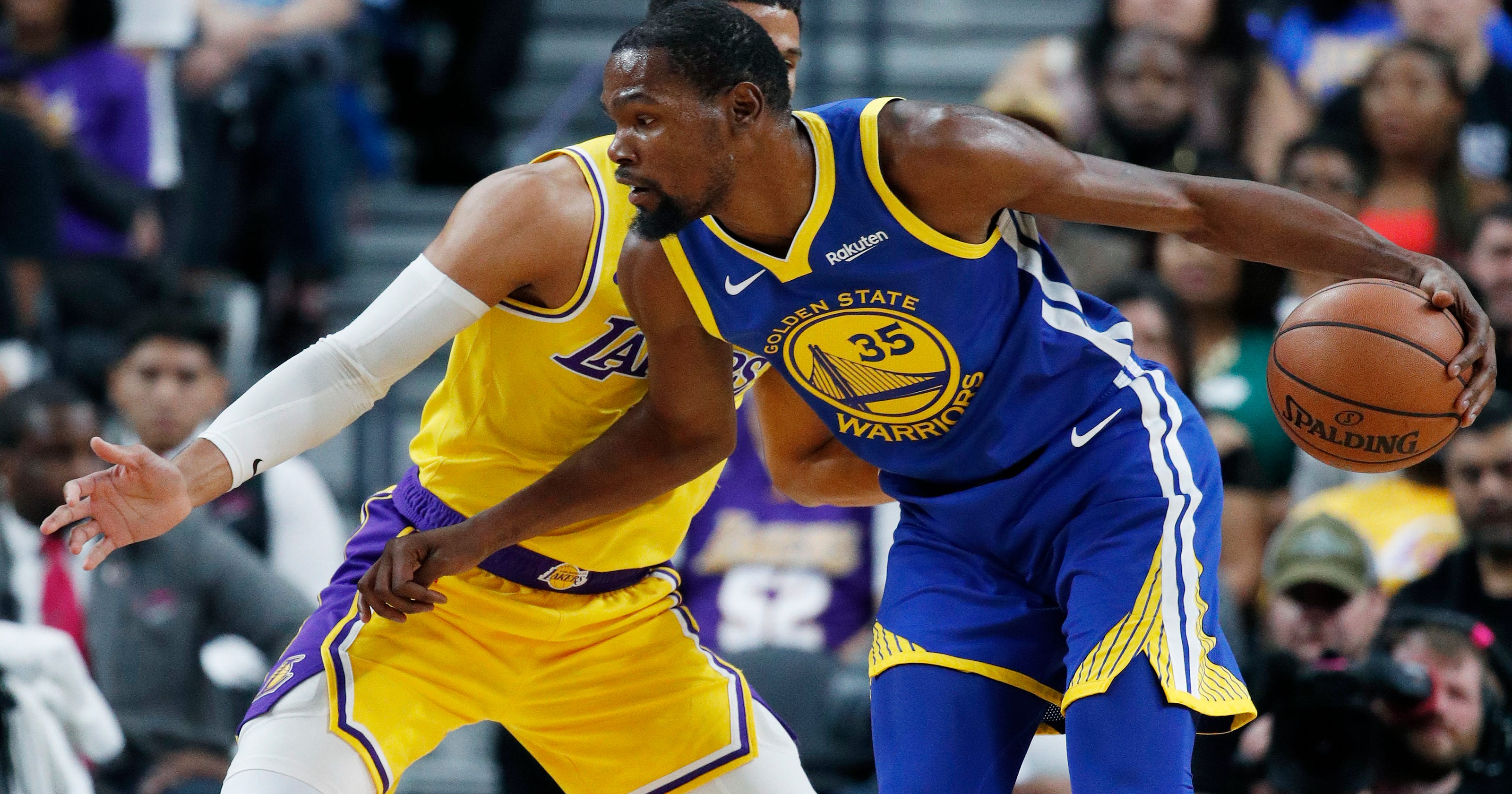da14972d5e1 Lakers-Warriors most-watched NBA preseason game ever on ESPN