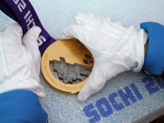 One-thousand three-hundred medals have been produced for the Winter Games,