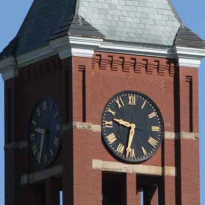 Courthouse clock tower.