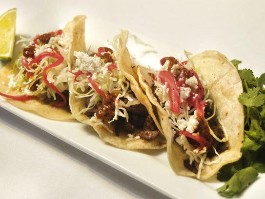 The carne asada street tacos are among dishes on Sierra
