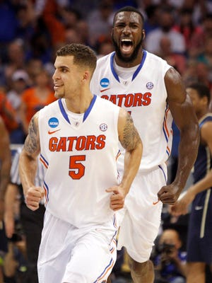 No. 1 overall seed Florida starts four seniors, including Scottie Wilbekin (5) and Patric Young.