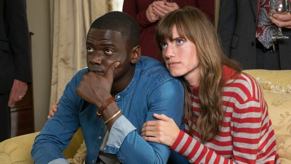 Daniel Kaluuya and Allison Williams in a scene from