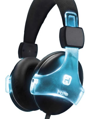 The iB37 Color Changing Rechargeable Headphones from iHome can be set to display your favorite color, run through the color spectrum and strobe or pulse to the beat.