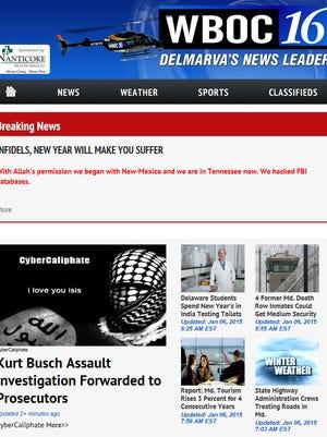 WBOC's website Tuesday morning.