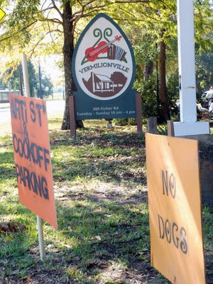 Signs set the stage for Blackpot Festival and Cookoff set to open Friday.