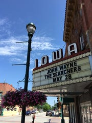 Downtown Winterset shows signs of the annual John Wayne