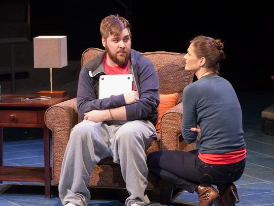 """Nate Miller and Brenda Withers in Steven Dietz's new work """"This Random World,"""" part of the 2016 Humana Festival of New American Plays at Actors  Theatre of Louisville."""