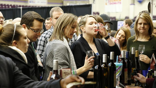 Hundreds packed First Arena in Elmira for the Wine on Ice last year.