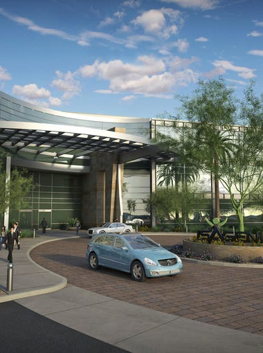 A rendering of the planned Isagenix International headquarters in Gilbert's Rivulon development.
