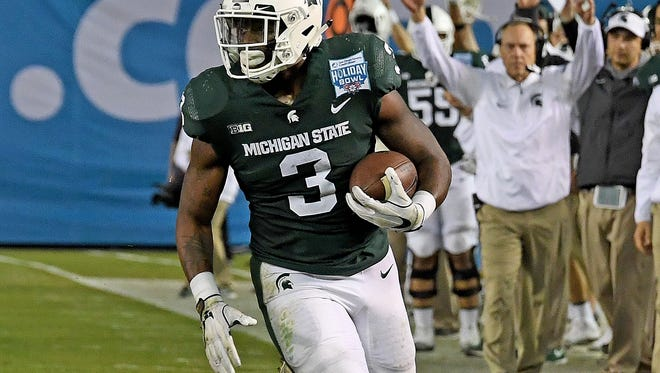 Senior running back LJ Scott will carry the rushing load, with help from Connor Heyward, Weston Bridges and incoming freshmen Elijah Collins and La'Darius Jefferson.