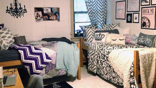 This dorm room was decorated with help from Dormify.com, an online design business founded by the Zuckerman family of Rockville, Maryland, after they were underwhelmed with what was available for dorm décor.