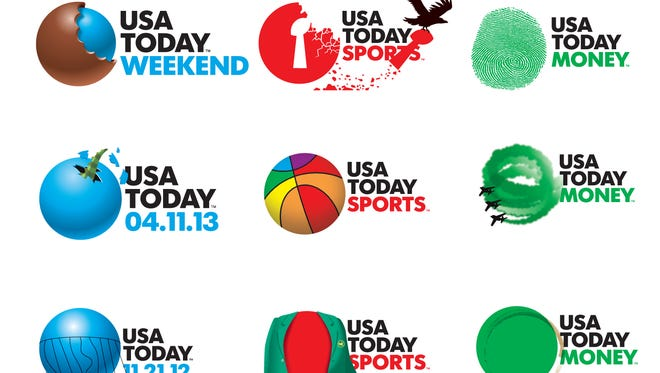 Highlights of a year of USA TODAY logos.