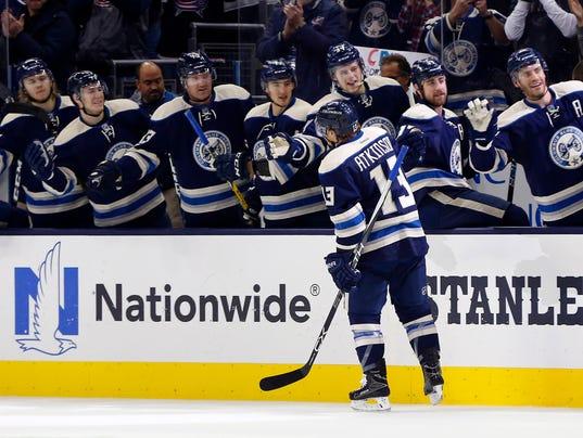 USP NHL: EDMONTON OILERS AT COLUMBUS BLUE JACKETS S HKN USA OH