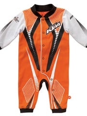 Children's onesies and two-piece pajamas with the KTM motocross logo fail to meet federal flammability standards for children's sleepwear, posing a risk of burn injuries to children.