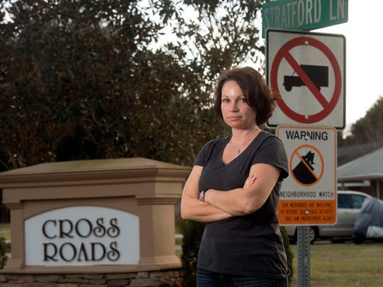 Nicole Hardy, the president of Cross Roads Homeowners Assoc. is spearheading her subdivisions efforts to get the county to close the Berryhill Road entrance to her neighborhood.  The residents of the neighborhood are citing an increase in the through traffic to Chumuckla Hwy.  for the closure.