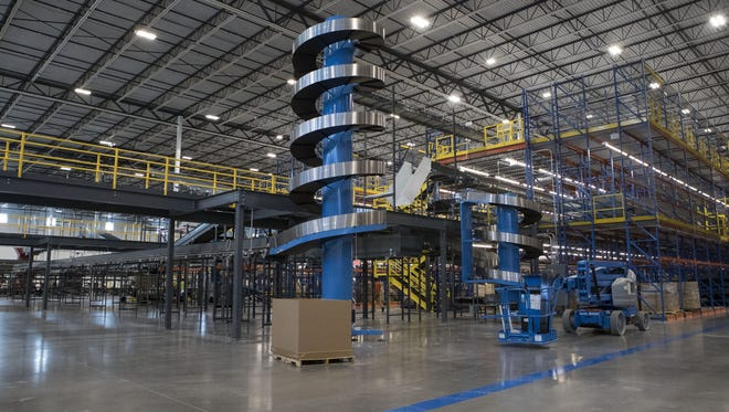 The inside of the new Conair distribution center is shown on Aug. 1, 2017, in Glendale.