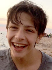 Dominic Geskey during a family trip last summer to Lake Michigan