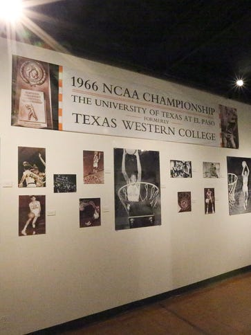 Part of an exhibit on the 1966 Texas Western College