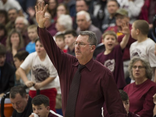 Kent Hendershot was a player for Southern Fulton in the 1985-86 championship season, and he coached the Indians to their eighth title on Friday in a 40-35 win over McConnellsburg.