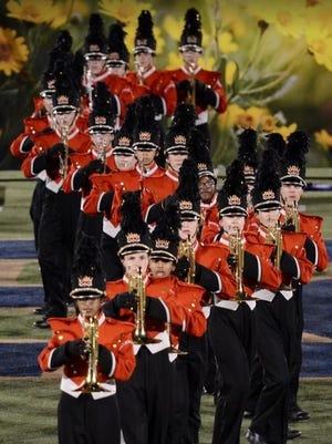 Hillsborough Raider marching band.