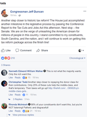 Jeff Duncan issued this statement on Facebook after the historic tax reform vote Dec. 19, 2017.