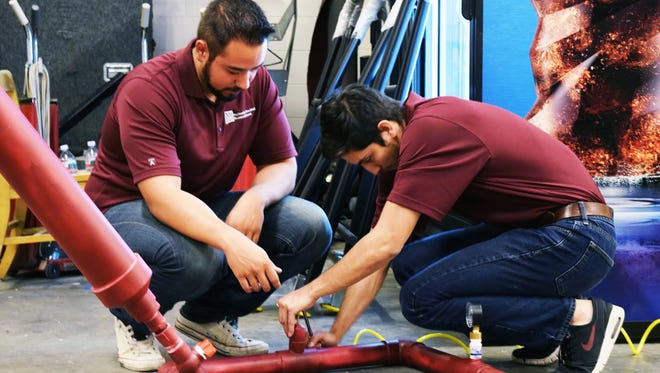 Aggie Innovators who work at the College of Engineering Aggie Innovation Space (AIS) built five new confetti cannons throughout the spring semester.
