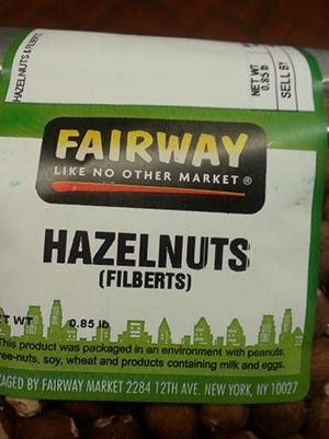 Fairway Market is recalling raw hazelnuts because of a possible Salmonella contamination.